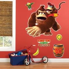 The Walls - Donkey Kong Giant Wall Decals!
