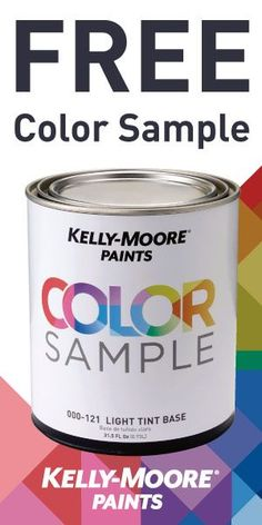 Refresh your home with Kelly-Moore Paints! Get a free color sample quart by filling out the form. Stop in any Kelly-Moore location to redeem your coupon!