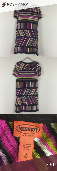 Missoni target dress M stripe short sleeve midi Good condition Missoni Dresses Midi