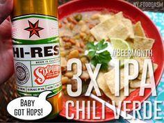 Triple IPA Chili Verde with Pork- a healthy recipe for dinner that's not chicken #BeerMonth - NY Foodgasm