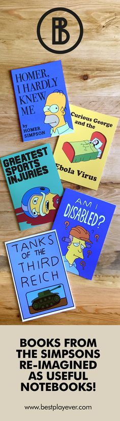 Books seen in The Simpsons as useful notebooks! #thesimpsons