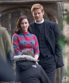 Hit show: James also stars as Vicar Sidney Chambers in the ITV detective drama, Grantchester, seen here with his on-screen love interest Amanda Kendall, played by Morven Christie