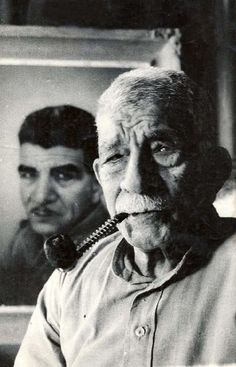 First Egyptian president Mohamed Naguib during his later years. A very powerful picture.