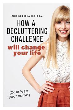 How a Decluttering Challenge Will Change Your Life (Or at Least Your Home) - This Modern Mess Organized Mom, Getting Organized, Energy Saver, Declutter Your Home, Mom Hacks, Work From Home Moms, Life Organization, Mom Humor, Simple Living