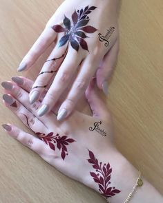 Best Mehndi Designs for Hands Fingers. You can easily make mehndi designs on your hands feet step by step. Modern Henna Designs, Henna Tattoo Designs Simple, Floral Henna Designs, Indian Henna Designs, Finger Henna Designs, Henna Art Designs, Mehndi Designs For Girls, Mehndi Designs For Beginners, Mehndi Design Pictures