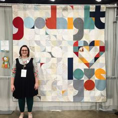 """QuiltCon 2015 People's Choice: """"Quilt for Our Bed"""" by Laura Hartrich"""