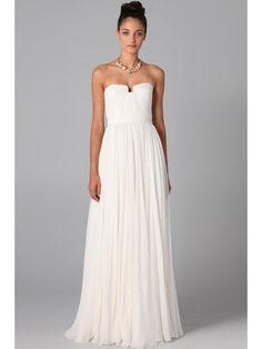 A-line/Princess Strapless Chiffon Sleeveless Floor-Length Dress