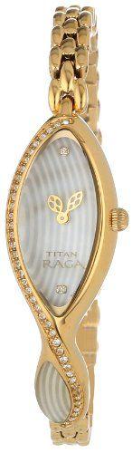 Titan Women's 9823YM01 Theme Raga Intricate Jewelry Inspired Crystal Gold Tone Watch -