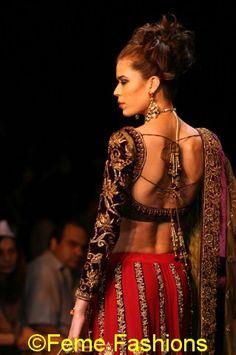 Shymal and Bhumika Sari Blouse Idea