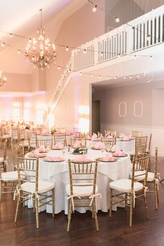 Blush Tuscawilla Wedding Reception - Plan It Events - Orlando Wedding Planner   www.planitcfl.com   Captured by Elle Photo