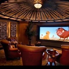 Home theater... Ornate decorations