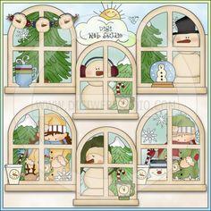 My Little Window Chilly Winter 1 - NE Cheryl Seslar Clip Art