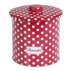 and a Red polka dot biscuit tin!