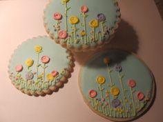 Flowers on Sugar Cookies