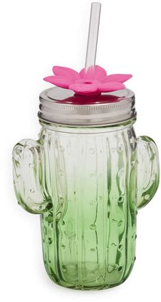Formations Green Glass Cactus Sipper #ad #cactus #cactusmania #cacti