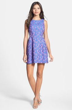 D1334JAQ- Sleeveless Jacquard Fit & Flare Dress | Alexia Admor Dresses