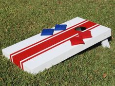 Cornhole Design Ideas cornhole boards so cute could do one red and one blue Pallet Idea