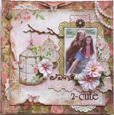 Such a pretty shabby-chic style! @Gabrielle Pollacco #bobunny #scrapbooking