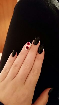 Poppy nail for Anzac Day