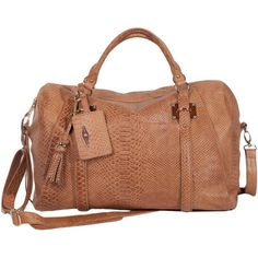 Elliott Lucca Lucca Leather Duffle Bag ($299) ❤ liked on Polyvore featuring bags, luggage, duffle bags and purses