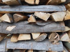 Gestapeld hout, Bödefeld/D