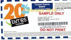 Free Printable Coupons: Bed Bath and Beyond Coupons