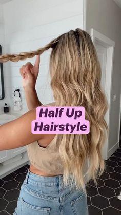 Work Hairstyles, Easy Hairstyles For Long Hair, Pretty Hairstyles, Wedding Hairstyles, Hairdos, Updos, Hair Upstyles, Aesthetic Hair, Hair Videos
