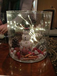 DIY with the Majestic Hurricane! snowman, christmas, winter home decor, centerpiece, lighted white branch, http://www.partylite.biz/legacy/sites/nikkihendrix/productcatalog?page=productsearch