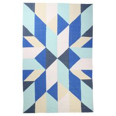 Zest Kilim Rug Royal on Fab.