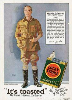 Lucky Strike | Tobacco retro advertising | Tabaco vintage advert | #Smoke #Posters #Ads #Adverts #retro #Cigarrillos #defharo #Affiches #vintage