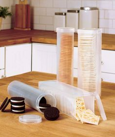 Set of 4 Cracker Storage Containers | The Lakeside Collection