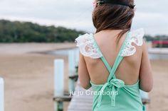 ju ju Creations - 'Butterfly' Bodysuit in Mint