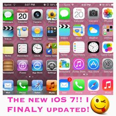 I finally updated my iPhone 4 to the new iOS 7!! Omg it took about AN HOUR! But that's a lot for a phone obsessed girl! It's great but lied.... THERE IS NO SIRI FOR IPHONE 4! Boooooo0! I am so exited but it's confusing so I'm still figuring it out! Lollllllllll!!!!