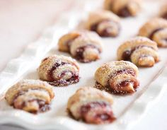 Jam-Filled Rugelach:  Rugelach, a traditional Jewish pastry, is the perfect sweet treat to serve at a high-tea in celebration of Hanukkah.