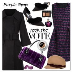 """""""Rock the Vote in Style"""" by mada-malureanu ❤ liked on Polyvore featuring NARS Cosmetics, Christian Dior, dresslily and rockthevote"""