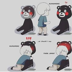 #kumamon #yoonmin #yoongi #suga #jimin #parkjimin #bts by bunniebaekhyunnie