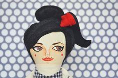 Amy Winehouse Doll rehab Handmade cloth doll by MandarinasDeTela