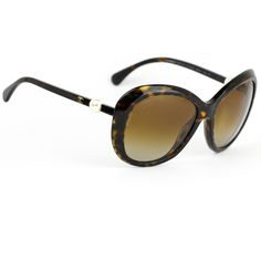 759af610c932 Chanel 5302 H Pearl Sunglasses Dark Tortoise Frame