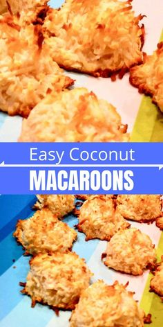 Quick and Easy Macaroon Recipe - delicious and made with just four ingredients! Quick and Easy Macaroon Recipe - delicious and made with just four ingredients! Single Serve Desserts, Easy No Bake Desserts, Delicious Desserts, Easy Macaroons Recipe, Macaroon Recipes, Easy Coconut Macaroons, Coconut Milk, Best Cookie Recipes, Fudge Recipes
