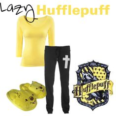 Lazy Hufflepuff, created by nearlysamantha on Polyvore