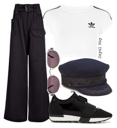 """#1143"" by dayal-may ❤ liked on Polyvore featuring adidas, Joseph, Balenciaga, vintage and JosephDouble"
