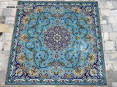Painting Ceramic Tiles, Tile Art, Wall Tiles, Tile Panels, Handmade Tiles, Carpet Tiles, Color Tile, Interior And Exterior, Persian