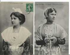 antique French photo-postcards ladies in folklore Bretagne/Arlésienne Photo Postcards, Folklore, Lady, French Antiques, Vintage Fashion, France, Best Deals, People, Women