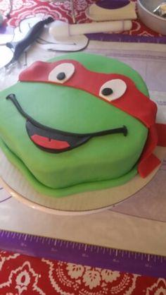 Ninja turtle raphael cake .