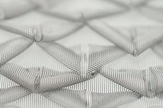Fabric Manipulation - origami fabric design with folded mesh for scale textures; textiles for fashion // Daniela Evans
