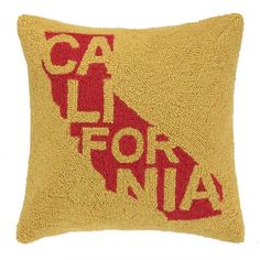 California State Icon With Name Throw Pillow