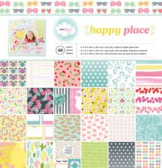 American Crafts - Happy Place Collection - 12 x 12 Paper Pad at Scrapbook.com