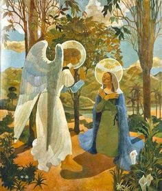 Jorge Barradas - Anunciação (1936, Museu do Chiado – Museu Nacional de Arte Contemporânea)