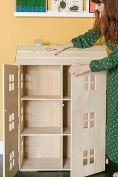 Wooden Dollhouse, Diy Dollhouse, Doll Furniture, Dollhouse Furniture, Doll House Plans, Barbie Doll House, Wooden Barbie House, Beautiful Mess, Wood Toys
