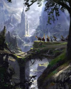 Pin by Lulunell on Landscape concept in 2020 Fantasy art landscapes Fantasy landscape Fantasy concept art